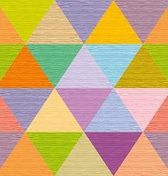 Seamless abstract multicolored triangles Colored vector image