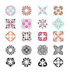 set of tribal decorative patterns vector image vector image