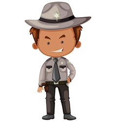 Sheriff in gray uniform vector image vector image