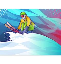 Ski Jump vector image vector image