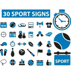 sport signs vector image vector image