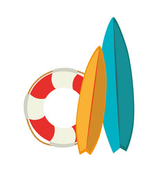 surfboard sport summer icon vector image vector image