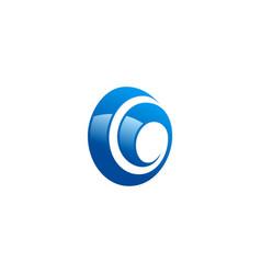 swirl abstract circle logo vector image