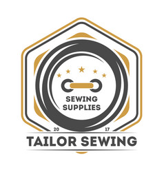 tailor sewing studio vintage isolated label vector image vector image