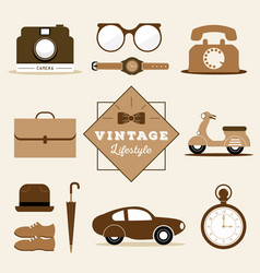 Vintage prop vector