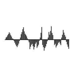 Audio digital equalizer technology icon vector image