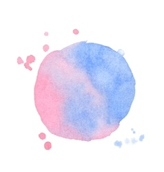 Watercolor splash on white background vector