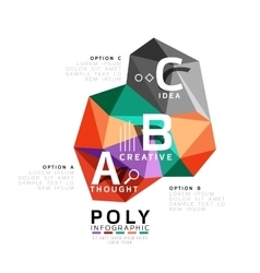 Moden low poly infographics template vector