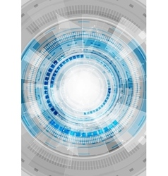Blue hi-tech abstract gears background vector image