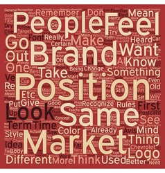 Brand your business text background wordcloud vector