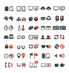 Web and business icons collection vector image