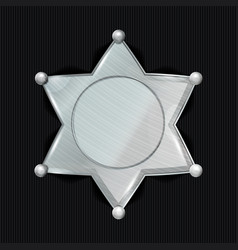 Sheriff badge star  classic symbol vector