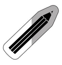 dark silhouette color pencil icon stock vector image
