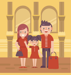 Family shoping flat vector