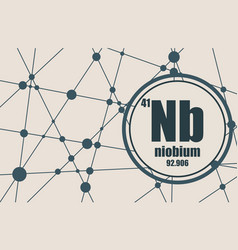 Niobium chemical element vector