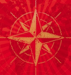 travel background with compass rose vector image
