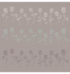 vector tulips vector image