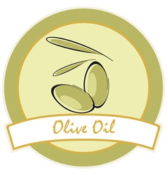 Label olive oil vector