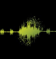 audio graph vector image