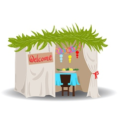 Sukkah for sukkot vector