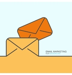 Outline flat design of email marketing vector