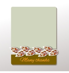 Thanksgiving - greeting card design vector