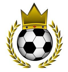 golden soccer vector image