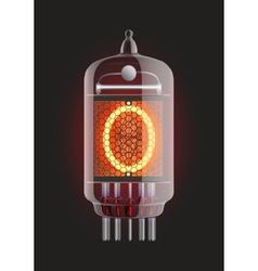 Nixie tube indicator vector