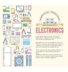 Home electronics appliances circle infographics vector
