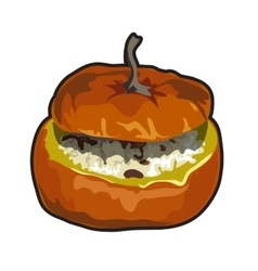 Cooked dish of pumpkin icon food for design vector