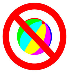 Play games banned sign vector