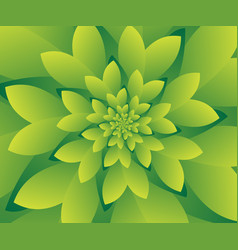 abstract green floral design background wallpaper vector image vector image