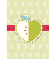 apple greeting card vector image