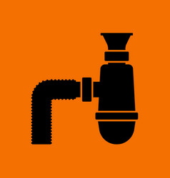 Bathroom siphon icon vector