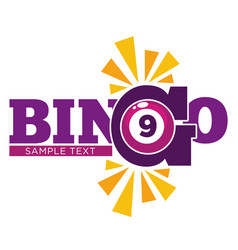 bingo promotional emblem witn numbered ball and vector image vector image