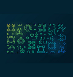 block chain colored banner blockchain vector image vector image