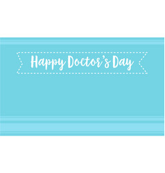 Card for world doctor day style vector