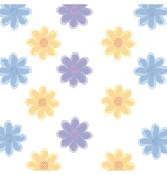 colorful flowers and isolated background vector image