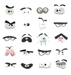 comic eyes set vector image vector image