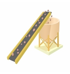 Conveyor for loading of chemical raw materials vector