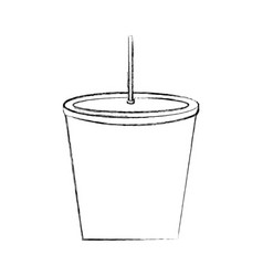 drink plastic with straw vector image