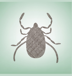 Dust mite sign brown flax vector