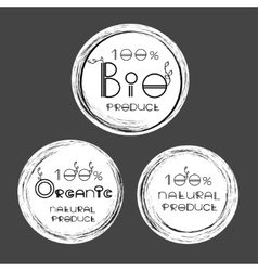 eco labels of Organic natural product bio vector image vector image