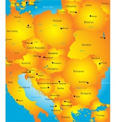 Eeast europe vector image vector image