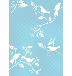 floral background birds vector image vector image