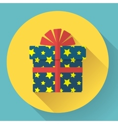 gift box icon vector image vector image