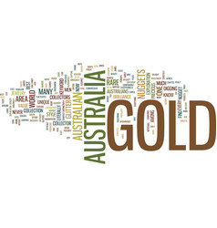 Gold in australia text background word cloud vector
