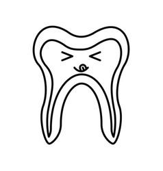 Human tooth kawaii character vector