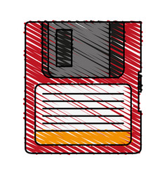 Magnetic diskette icon vector