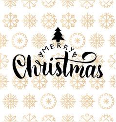 Merry christmas lettering design on vector